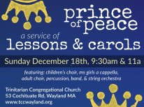 lessons and carols external new